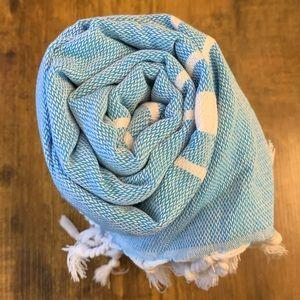 "Brand new 100% Cotton Blue 38""X71"" Turkish Towel"